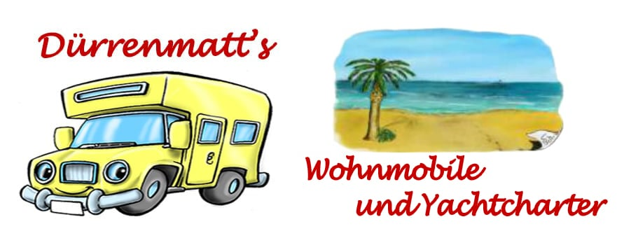Das ist unser Logo Wohnmobile und Yachtcharter Dürrenmatts