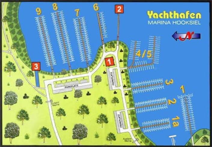 Der Yachthafen Marina Hooksiel
